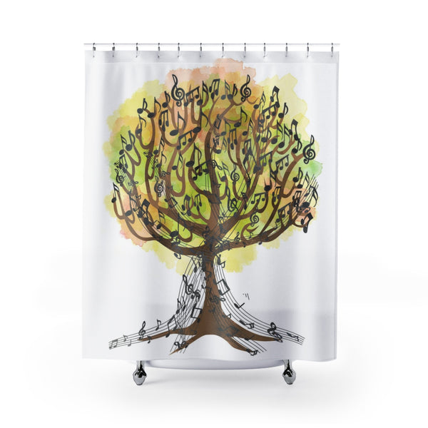 Music Tree Shower Curtain