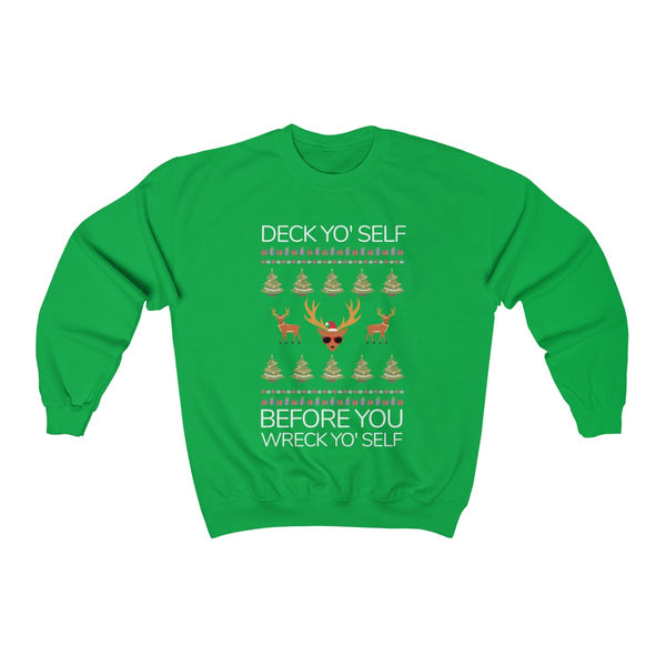 Ice Cub: Deck Yo Self Before You Wreck Yo Self Christmas Sweater