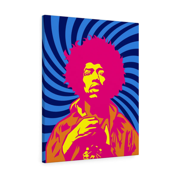 Jimi Hendrix Canvas (Blue)