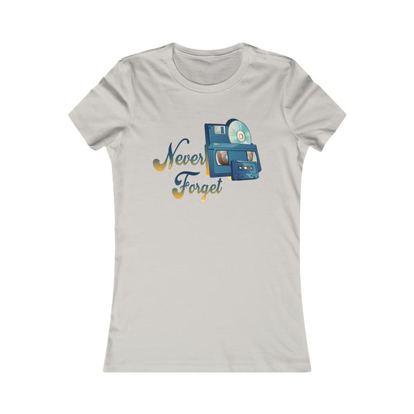 Never Forget Old School Women's Tee-Printify-Melody Made