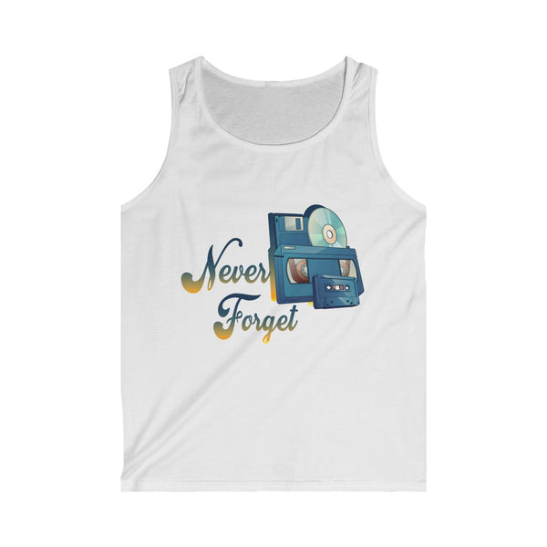 Never Forget Old School Tank Top-Printify-Melody Made