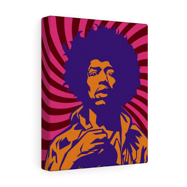Jimi Hendrix Canvas (Purple)