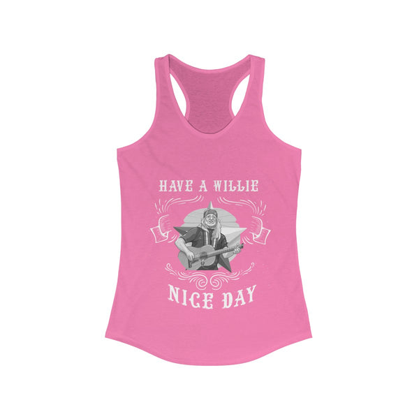 Have A Wille Nice Day - Willie Nelson Tank-Printify-Melody Made
