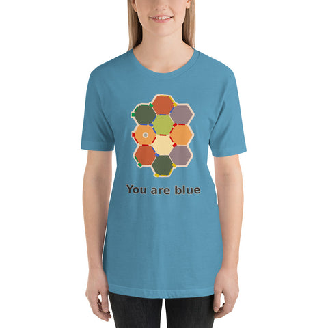 Hexagonal Anxiety Unisex T-Shirt, now in color!