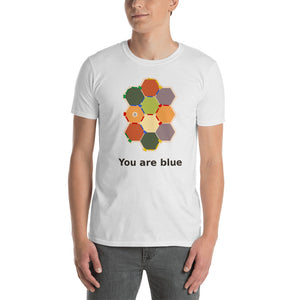 Hexagonal Anxiety Unisex T-Shirt, in basic white