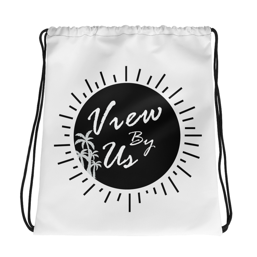View By Us| white palm trees beach bag