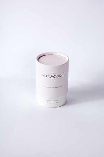 CHAMPAGNE & STRAWBERRIES WOODWICK CANDLE