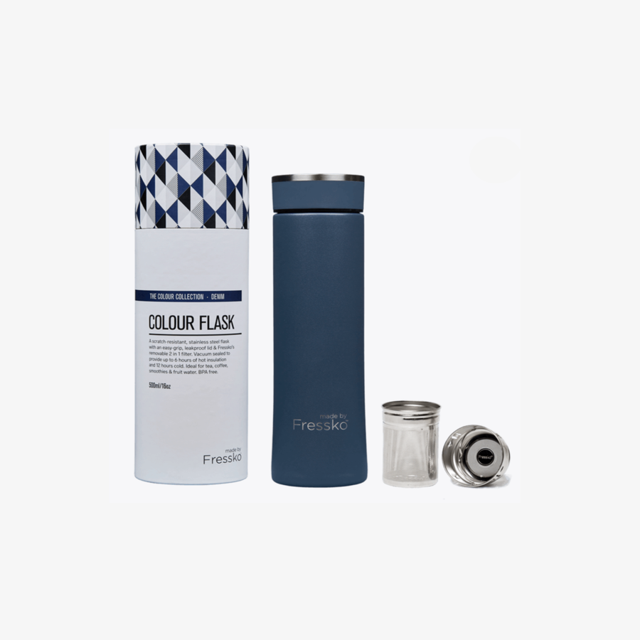 INSULATED STAINLESS STEEL FLASK FRESSKO - DENIM