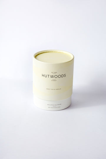 SWEET PEA & VANILLA WOODWICK CANDLE