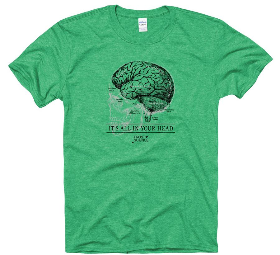 "Frost Science Museum ""It's All In Your Head"" Brain TShirt"