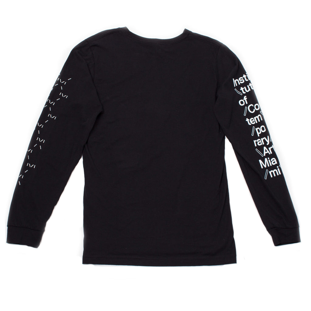 Institute of Contemporary Art Miami Long Sleeve Black Shirt