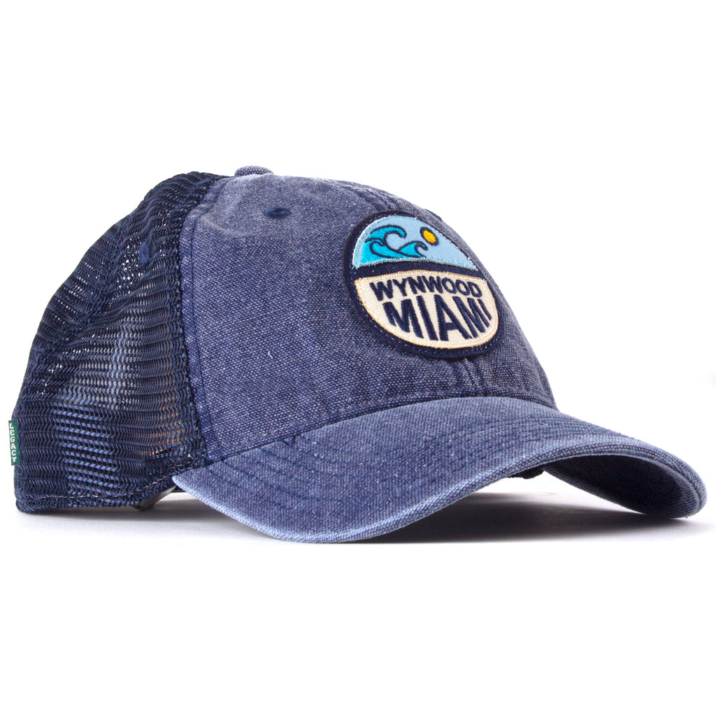Wynwood Miami Blue Denim Trucker Cap
