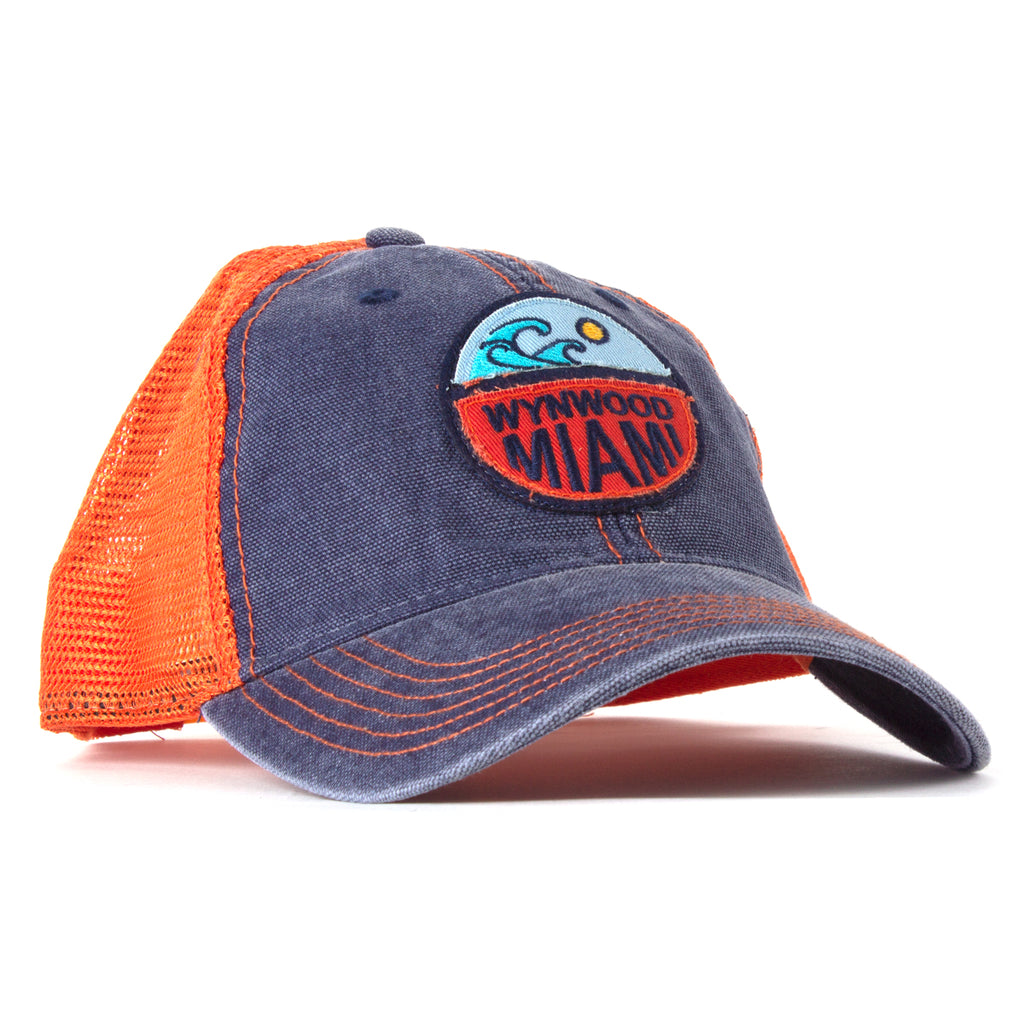 Wynwood Miami Orange and Denim Trucker Cap