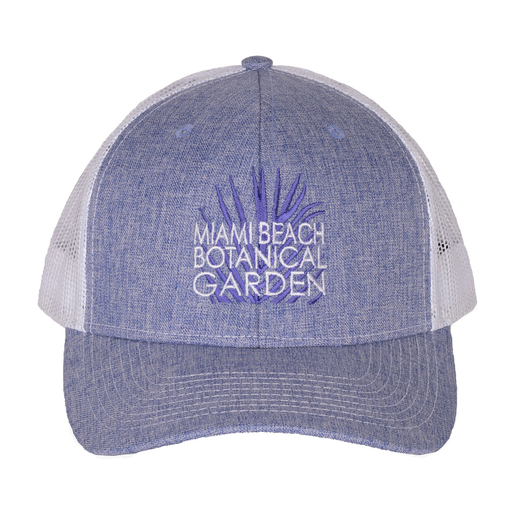 Miami Beach Botanical Garden Powder Blue Trucker Hat