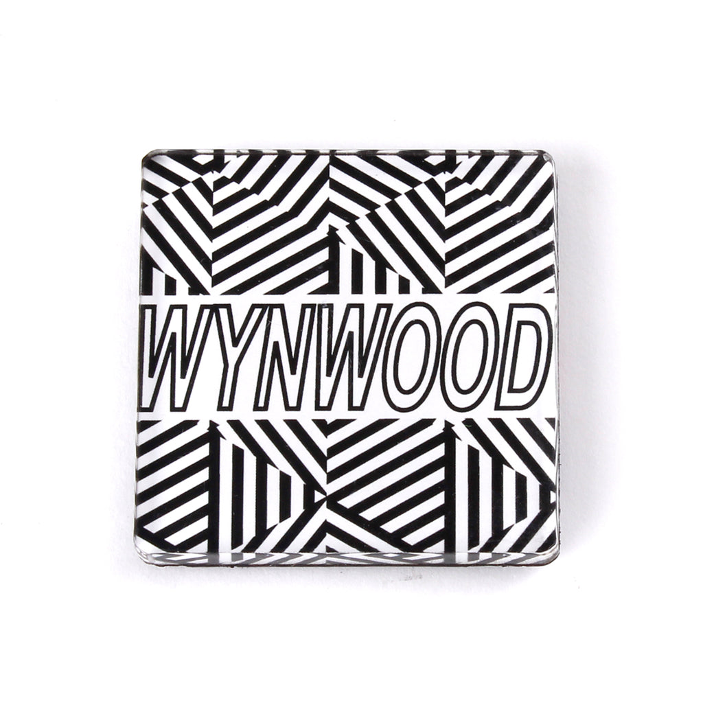 Wynwood Miami Geometric Black and White Magnet