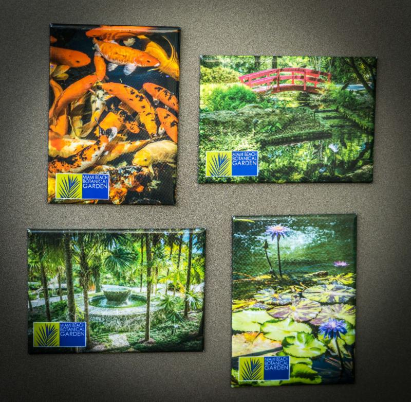 Miami Beach Botanical Garden Scenic Magnets Collection