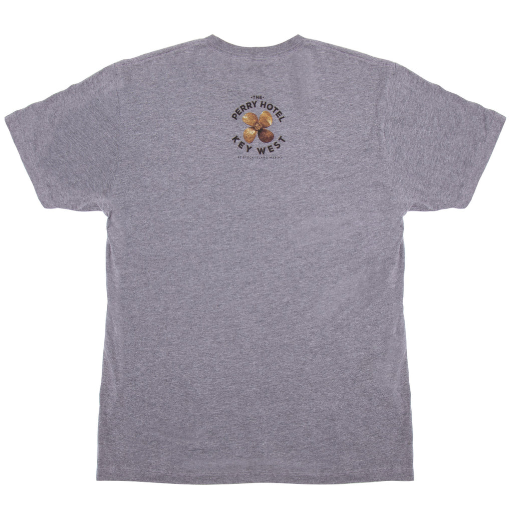 The Perry Hotel Mens / Unisex Grey Boat Dog TShirt