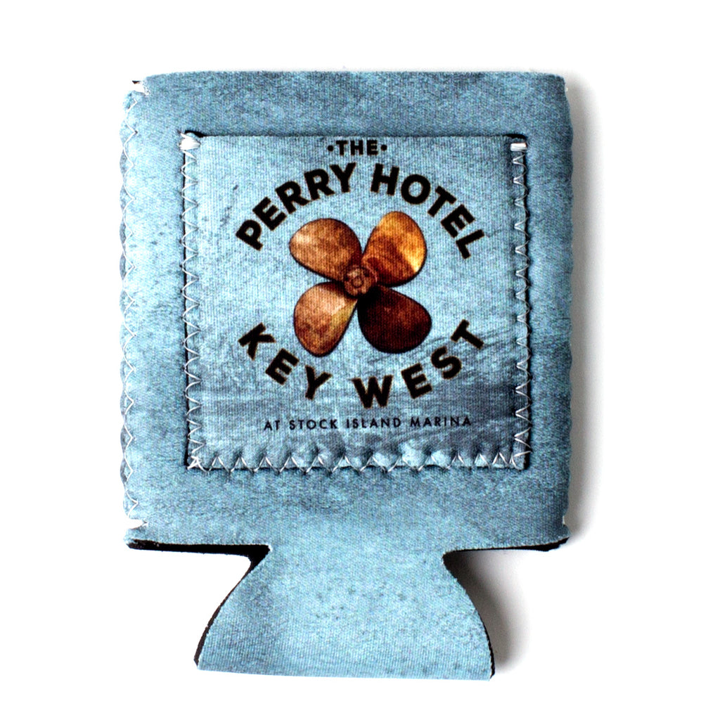 The Perry Hotel Collapsible Blue Can Koozie