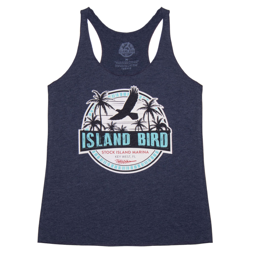 "The Perry Hotel Ladies Blue ""Island Bird"" Tank Top"