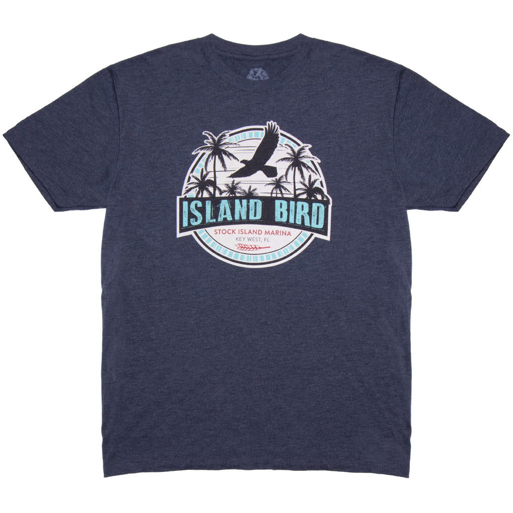 "The Perry Hotel Mens / Unisex Blue ""Island Bird"" Tshirt"