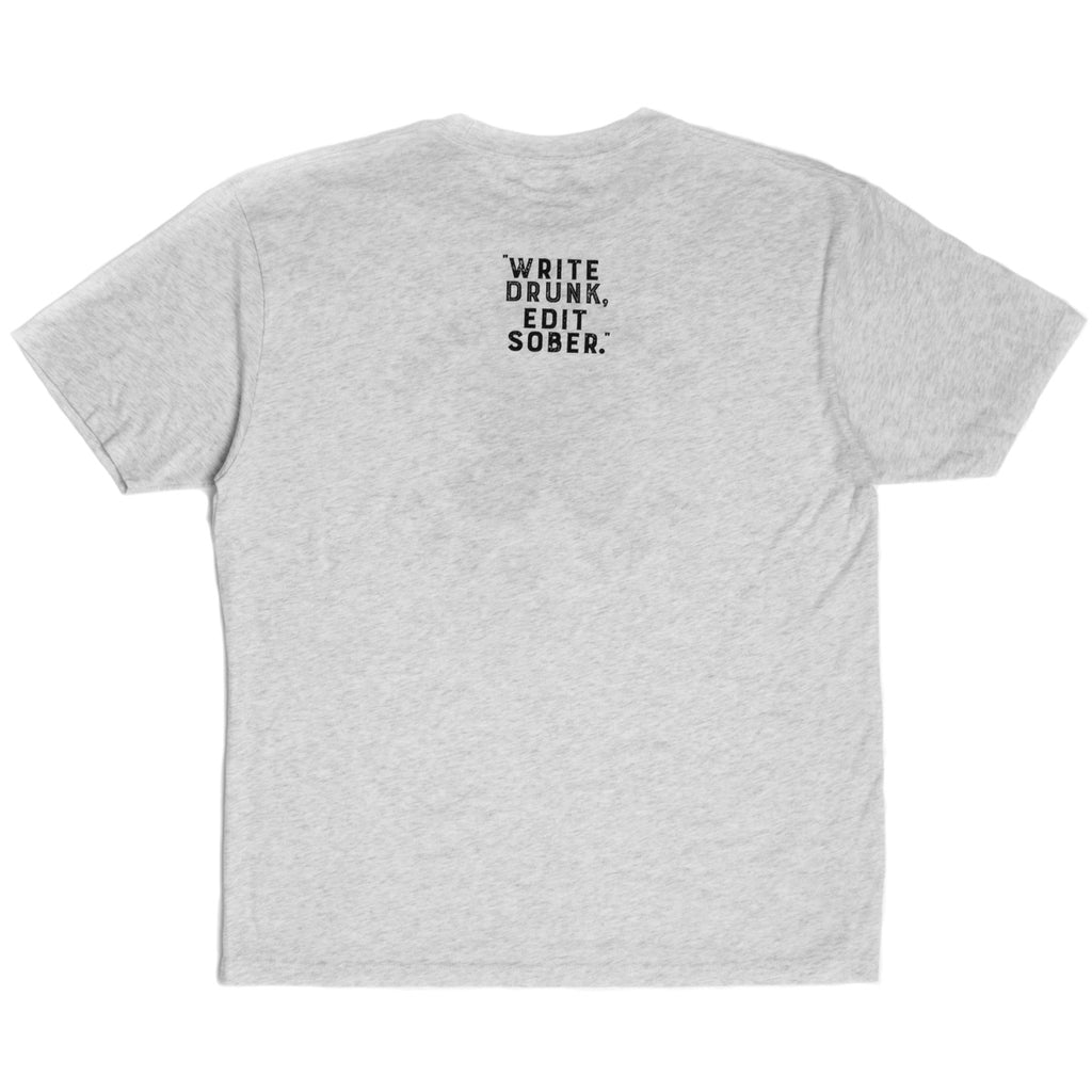 "The Perry Hotel Men's White ""Write Drunk, Edit Sober"" Tshirt"