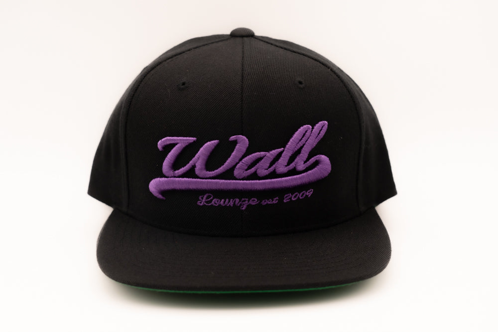 Wall at W Hotel South Beach Purple and Black Hat