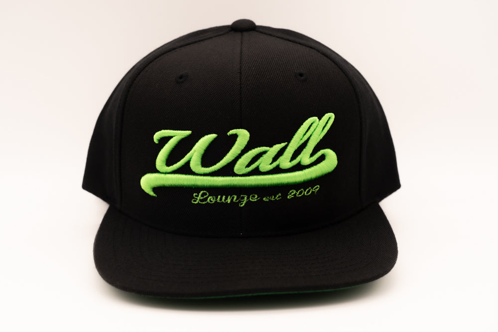 Wall at W Hotel South Beach Green and Black Hat