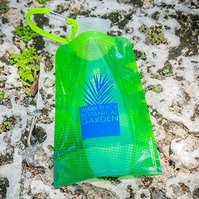 Miami Beach Botanical Garden Refillable, Foldable Water Bottle