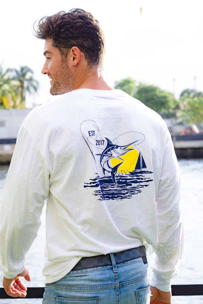 The Wharf Miami Men's Comfortsoft® Long Sleeve Marlin T-Shirt