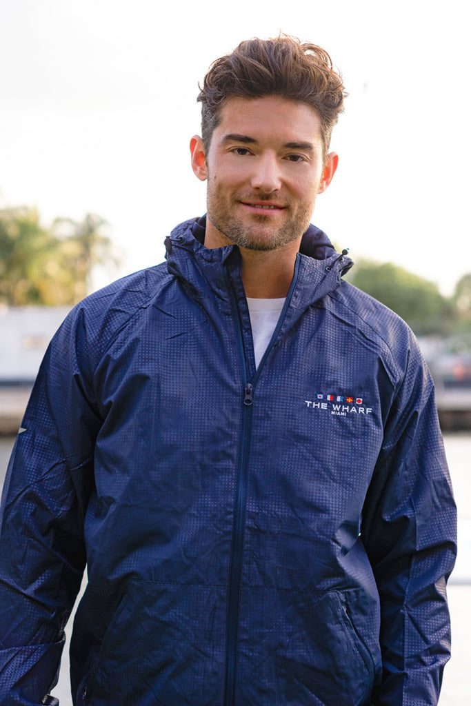 The Wharf Miami Navy Blue Windbreaker Jacket