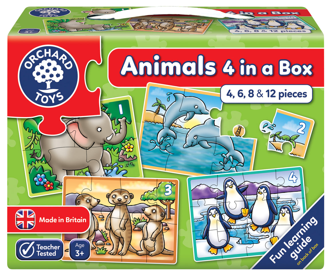 Animals Four in a Box - The Tiny Toy Store