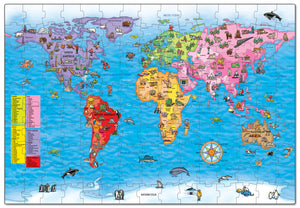 World Map Puzzle & Poster - The Tiny Toy Store