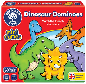 Mini Games -  Dinosaur Dominoes - The Tiny Toy Store