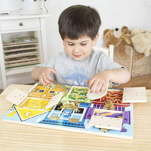 Melissa & Doug Latches Wooden Activity Board - The Tiny Toy Store