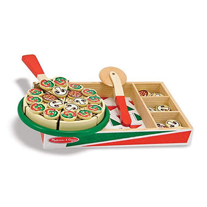 Melissa & Doug Pizza Party Wooden Play Food Set With 54 Toppings - The Tiny Toy Store