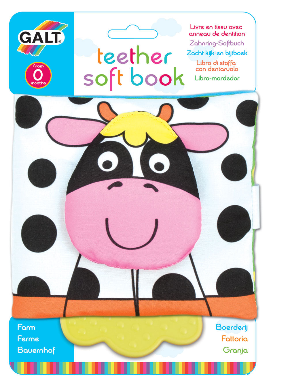 Teether Soft Book - Farm - The Tiny Toy Store