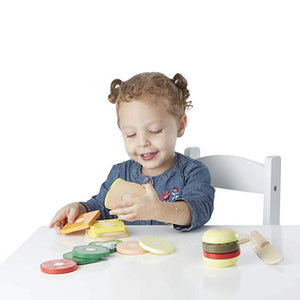 Melissa & Doug Wooden Sandwich-Making Pretend Play Food Set - The Tiny Toy Store
