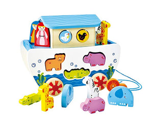 Pull-Along Noah's Ark - The Tiny Toy Store
