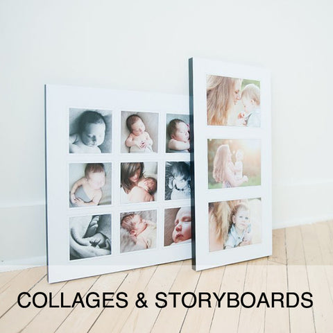 COLLAGES & STORYBOARDS
