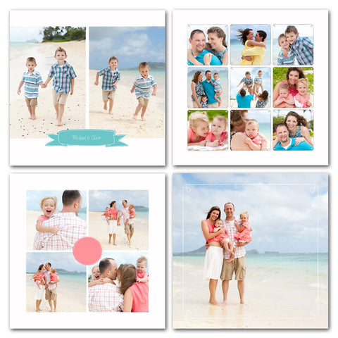 fun collage design for family and vacation photography