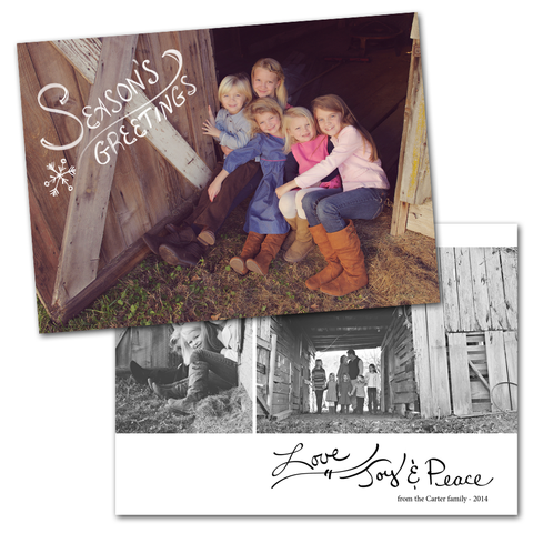 family photography card templates for photographers