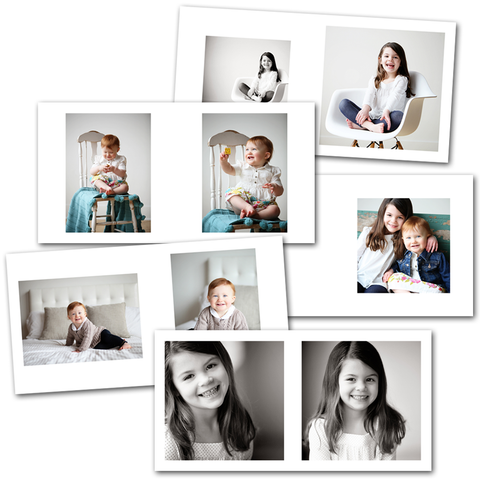 InDesign library templates for 8x8 album layout