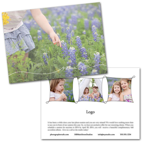 photography template for marketing to past clients