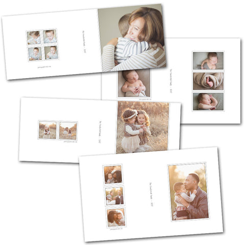 simple modern photo box templates