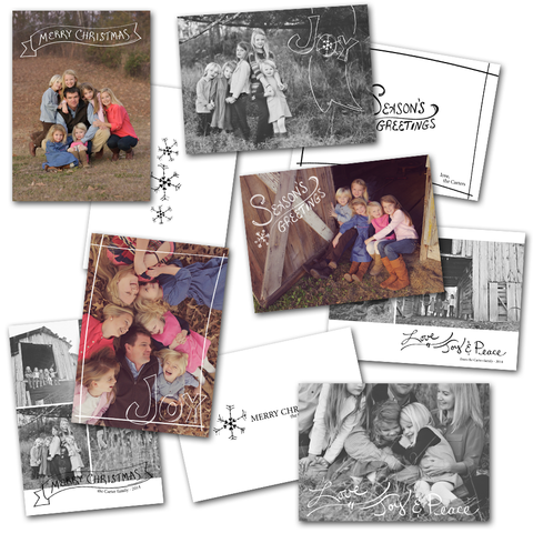 family image holiday card templates set