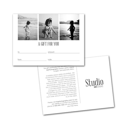creative photographer gift card designs