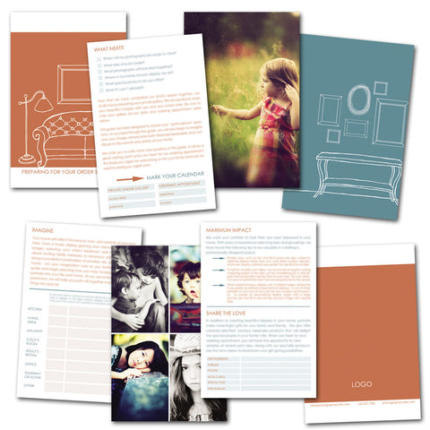 client ordering guide and booklet for professional photographers