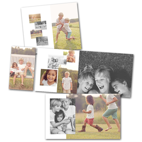 Millers 4x8 accordion book photoshop template designs
