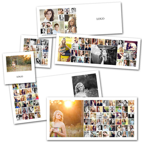 clean lined photography collage card templates