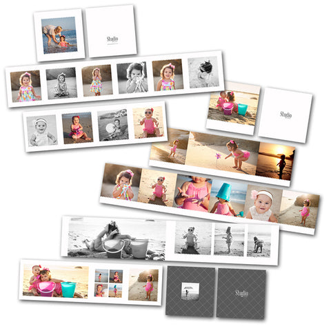 Mini album designs and templates